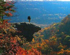 Imagine having a first kiss at the edge of that rock? This view in Ozark National Park screams fairytale. The hike is only a 3-mile round trip, with plenty ...