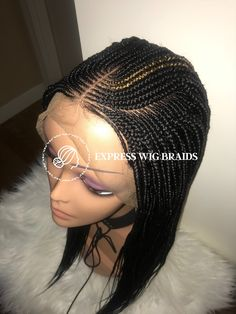 : Shop Cornrow Wig : Shop amazing handmade braidwig at very affordable price. We bring the salon to your home fauxlocs cornrowhairstyles hairstylesforcurlyhair hairstylesforthinhair hairstylesforshortcu Cute Simple Hairstyles, Braided Hairstyles For Black Women, Braided Hairstyles Tutorials, Older Women Hairstyles, Bun Hairstyles, Black Hairstyles, Haircuts, Cornrows With Box Braids, Braids Wig