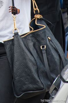 Black on Black LV bag