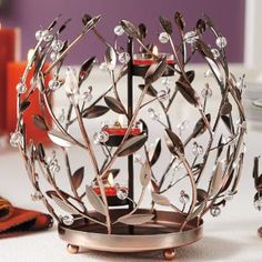 Leaf and Berry Jar Holder & Universal Tealight Tree – Bronze-tone by PartyLite® Candles. Shop here : http://www.partylite.biz/legacy/sites/nikkihendrix/productcatalog?page=productdetail&sku=P91601S&categoryId=55408&showCrumbs=true