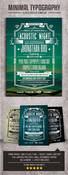 Minimal Typography Flyer/Poster - GraphicRiver Item for Sale