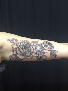My new peony tattoo #peonytattoo #tattoo #floraltattoo
