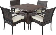 5 Piece Dining Set with Cushions