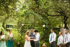 The Inn at Wild Rose Hall Garden Ceremony