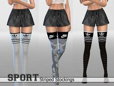 The Sims Resource: 30Athletic Striped Stockings Pack by Pinkzombiecupcake • Sims 4 Downloads