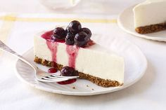 This Frozen Lemon Cheesecake with Blueberry Drizzle is the perfect way to enjoy cheesecake in the summer. Call it lemon's challenge to Key lime pie.