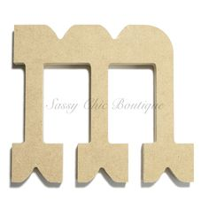 unfinished wooden letter lowercase m western font