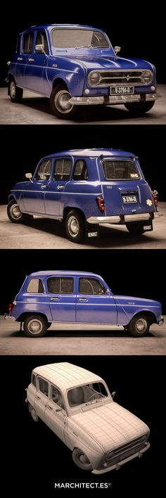 Renault R4 - 1961 3D model & render by Marchitect.es Love this car...