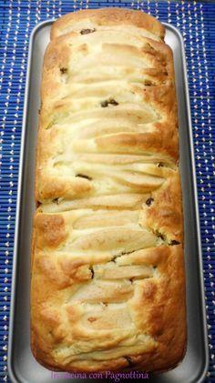 Plumcake con pere e gocce di cioccolato (senza grassi)