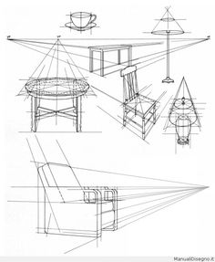 Brilliant Draw A Glass Ideas. Exquisite Draw A Glass Ideas. Perspective Drawing Lessons, Perspective Sketch, Point Perspective, Interior Design Sketches, Sketch Design, Basic Drawing, Technical Drawing, Drawing Furniture, Art Basics