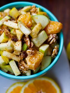 Fall Holiday Fruit Salad: Apple Citrus Cinnamon - Vegan