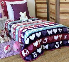 Child of the Sun Girls Blanket - Hearts and Elephants - Shop for it Online Now. Kids Blankets, Elephants, Comforters, Little Girls, Hearts, Range, Sun, Children, Color