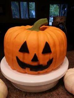 Halloween Jack-O-Lantern Cake  on Cake Central