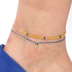【Embellish.別注デザイン】ビーズ&チャーム使いアンクレット2本セット(chibi jewels)  #embellish #chibijewels #accessory #fashion #anklet #trend #ladies