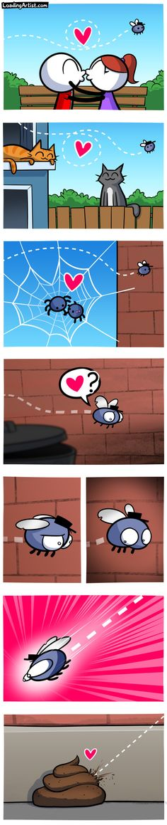 Love is in the air.. tap to view the full comic!