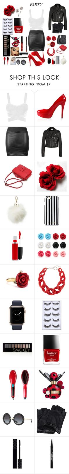 """""""Nightime Party"""" by ale-needam on Polyvore featuring Posh Girl, Yves Saint Laurent, Charlotte Russe, MICHAEL Michael Kors, MAC Cosmetics, Oscar de la Renta, DIANA BROUSSARD, Forever 21, Marc Jacobs and Dolce&Gabbana"""