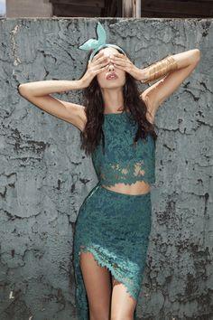 For Love & Lemons Spring Summer 2015 Little Dresses, Blue Dresses, Lacy Dresses, Dresses Uk, Dress Lace, Prom Dresses, Formal Dresses, Poses, For Love And Lemons