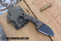 Miller Bros. Blades Custom M-8 Sub Compact with ring. This model is available in Z-Wear PM, CPM 3V, CPM S35VN, Z-Tuff PM and 5160 steels Miller Bros. Blades Custom Handmade Knives, Swords & Tomahawks.