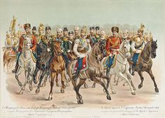 Emperor Nicholas II Alexandrovich of Russia in the uniform of the Horseguards Regiment of Her Imperial Majesty, Empress Maria Feodorovna of Russia née Princess Dagmar of Denmark. Trans Siberian Railway, Alexandra Feodorovna, Tsar Nicholas Ii, Russian Orthodox, Historian, Camel, Army, Military, Image