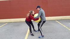Ball Tug: @gophersport #PhysicalEducation #PHED #PHEatHome Stability Ball, Funny Games, Physical Education, Balls, Sporty, Exercise Ball, Physical Education Lessons, Physical Education Activities, Gymnastics