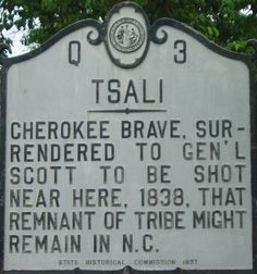 Tsali, Cherokee Brave  see Unto These Hills for Tsali's story..very sad part of our history.