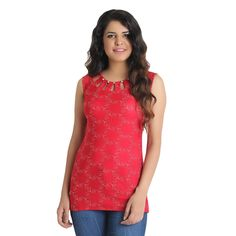 This beautiful red stretchable top will surely give a stylish look.