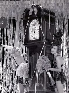 Dorothy Lee and Thelma White  New Year's 1930s