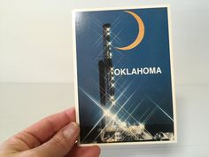 OKLAHOMA OIL and GAS Rig Post Card,modern oil rig post card,Vintage Memento,Vintage Souvenir,gas rig card,paper ephemera,post card oil rig