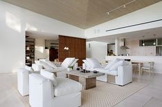 The Styling of the couches - Malibu House by Dutton Architects