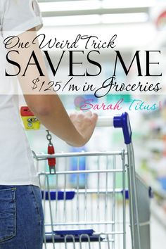 I don't coupon a whole lot, so when it comes to spending money on groceries, they are a lot. Here's a trick I've learned over the years to make my budget go further. It's so simple, anyone can do it!