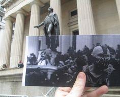 Wall Street, Federal Hall, New York. Τom Hardy, The Dark Knight Rises, 2012...