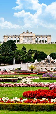 Gloriette in the Schonbrunn garden, Vienna. Austria