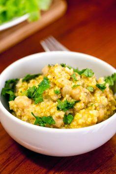 La Cucinetta: Cozido de painço e batata-doce. Fica mesmo uma delícia. Painço é millet.
