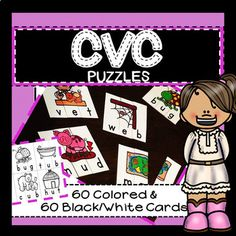 3 Letter Words, Cvc Words, Activity Centers, Literacy Centers, Reading Specialist, Short Vowels, Phonemic Awareness, Teaching Kindergarten, Daily 5