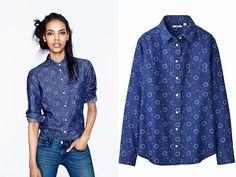 UNIQLO Denim Long Sleeve Shirt - Friday Denim Finds - Made in Denim for 2013 Fall Autumn Womens
