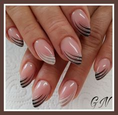 faded french nails watches - Home interior design - French Nails, French Manicure Nails, Gel Nails, Nail Polish, Manicures, French Nail Designs, Acrylic Nail Designs, Nail Art Designs, Cute Nails