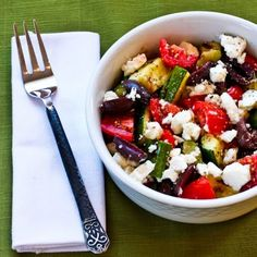 Grilled Zucchini Greek Salad Recipe
