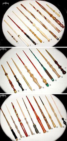27 Wands by artdragondream on deviantART.  I so want one!