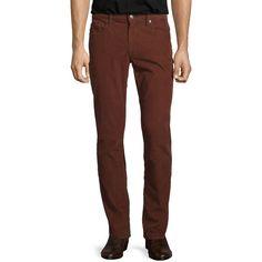 Vince 718 Slim-Fit Corduroy Pants (2.310 UYU) ❤ liked on Polyvore featuring men's fashion, men's clothing, men's pants, men's casual pants, bark, mens slim fit pants, mens zipper pants, mens slim pants, mens corduroy pants and men's 5 pocket pants