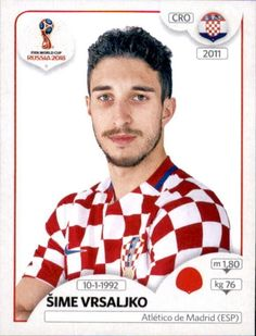 Šime Vrsaljko - Croatia World Cup Russia 2018, World Cup 2018, Fifa World Cup, Uefa Football, Sport Football, Football Stickers, Football Cards, Football Updates, America's Cup