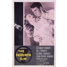 The Seventh Sin Linen-Mounted 1957 Movie Poster ($180) ❤ liked on Polyvore featuring home, home decor, wall art and mounted wall art