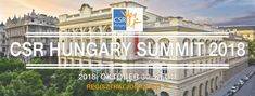 CSR HUNGARY Summit 2018. október 30-án, a Magyar Külkereskedelmi Bank Báltermében. Évi, összegző vállalati felelősség és fenntarthatóság konferencia döntéshozóknak.