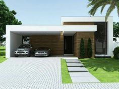 40 Simple Garage Design Ideas For Your Minimalist Home - It is mandatory to opt for durable, high-quality material. No matter how tempting an offer may sound, don't agree to make quality compromises. Sectional Garage Doors, Wood Garage Doors, Minimalist Window, Minimalist Home, Minimalist Interior, Minimalist Bedroom, Garage Design, Exterior Design, Modern Buildings