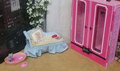 Barbie Lot of Fun Carry Storage Closet Case Chaise Pillow Pet Bed Dish Cat Plant | Dolls & Bears, Dolls, Barbie Contemporary (1973-Now) | eBay!