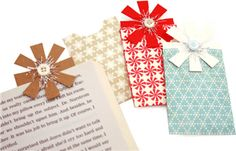 bow gift card bookmark by Pebbles in my Pocket