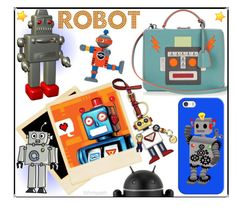 """""""Robot!"""" by whirlypath ❤ liked on Polyvore featuring Mark Cross, Prada and Casetify"""