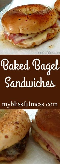 Baked Bagel Sandwiches | My Blissful Mess