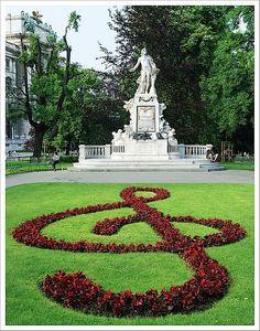Monument to Mozart, Viena, Austria.   Visited in 1998