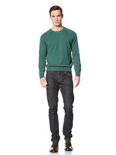 81% OFF Gran Sasso Men\'s Crew Neck Knit Sweatshirt (Emerald)