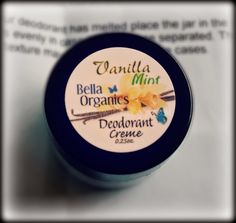#TemporaryWaffle Temporary Waffle: Bella Organics Vanilla Mint Deodorant Creme + GIVEAWAY!
